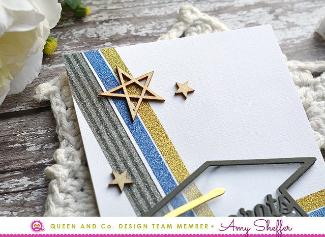 Glitter Washi Graduation Card