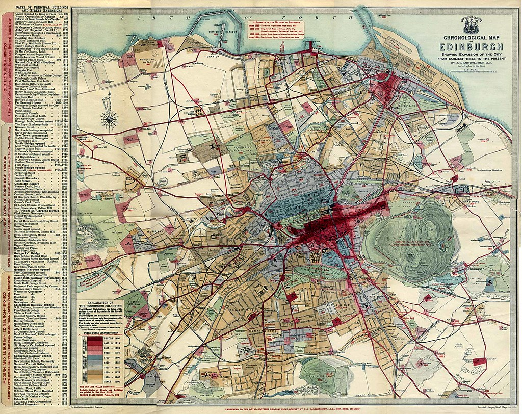 Chronological map of Edinburgh (1919)