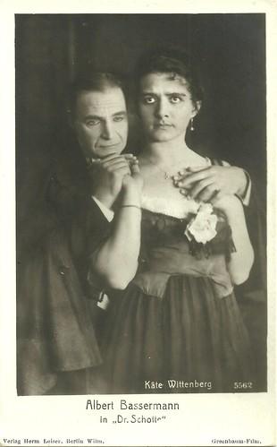 Albert Bassermann and Käte Wittenberg in Dr. Schotte