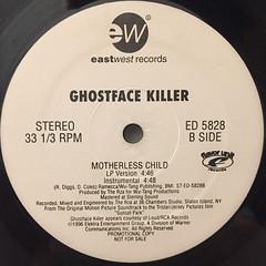 GHOSTFACE KILLER:MOTHERLESS CHILD(LABEL SIDE-B)