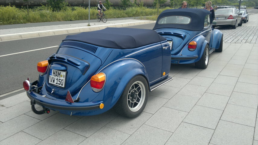 Volkswagen Beetle 1303 With Self Made Trailer Granada