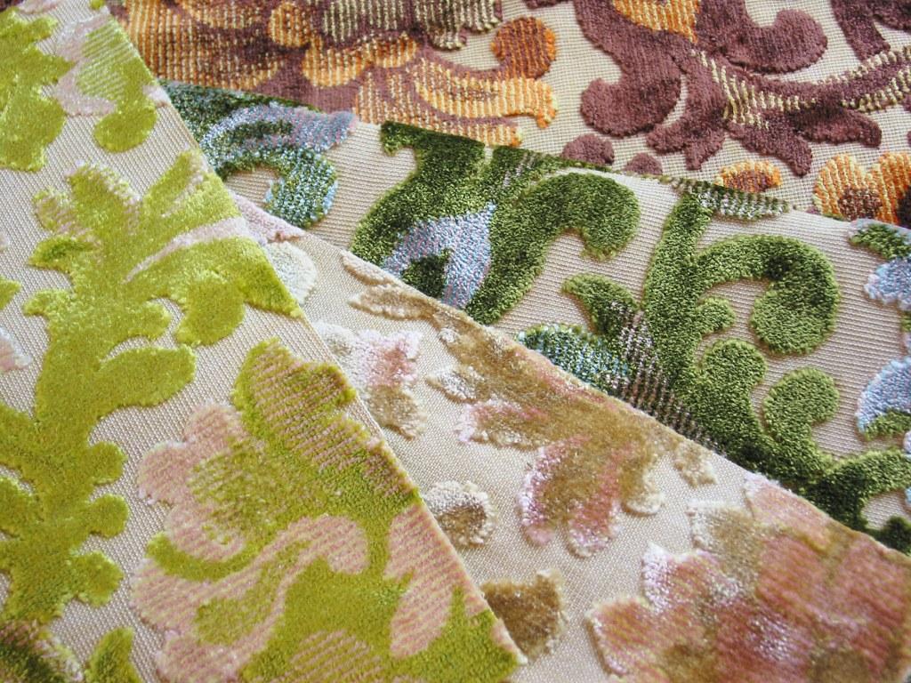 Vintage Cut Velvet Upholstery Fabrics Cut Velvet Fabrics Flickr