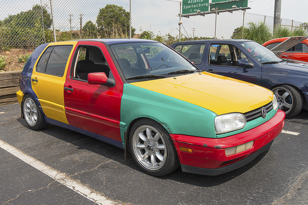Multicolored VW Golf | At the VW Bash on August 3rd, 2013 at… | Flickr