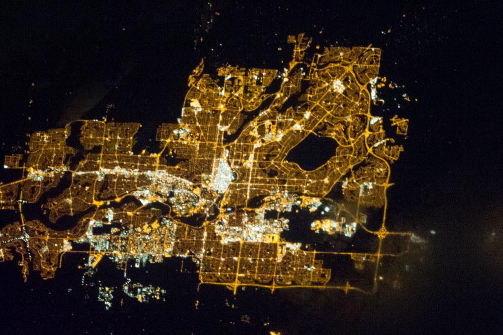 Calgary At Night Nasa International Space Station 03 31