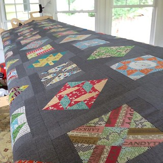 My Farmer's Wife quilt is all stretched out and ready for thread basting! | by quirky granola girl