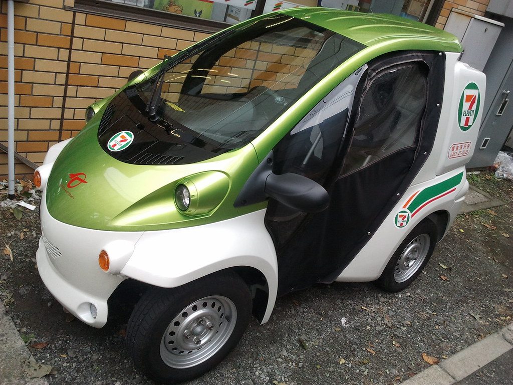 Toyota Coms Single Person Electric Car Seen A Few Of