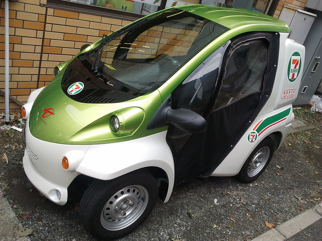 One Seater Car >> Toyota COMS single-person electric car | Flickr - Photo Sharing!
