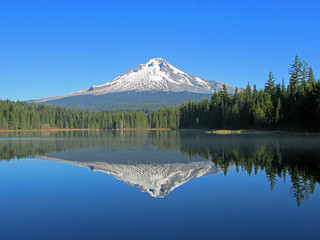 Mt. Hood at Trillium Lake in OR | by Landscapes in The West