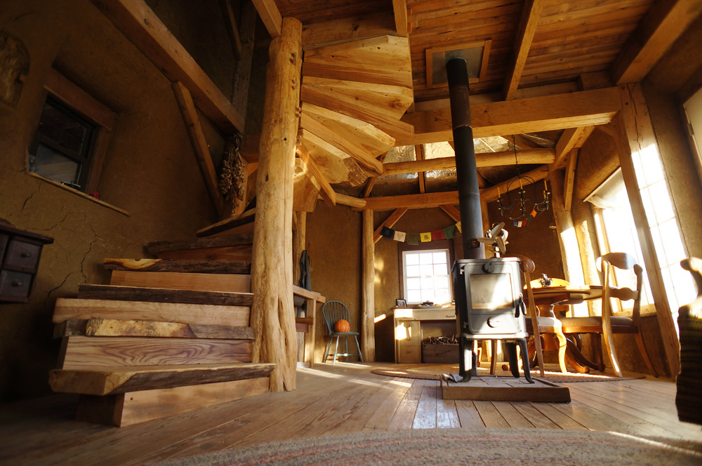 Timber Frame House Spiral Stairs Ziggy Liloia Flickr