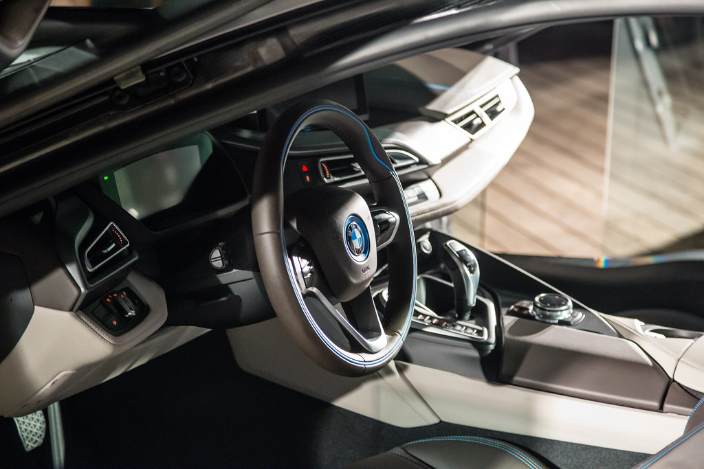 Bmw i8 interior 2 another relatively close shot of the for I 8 interior