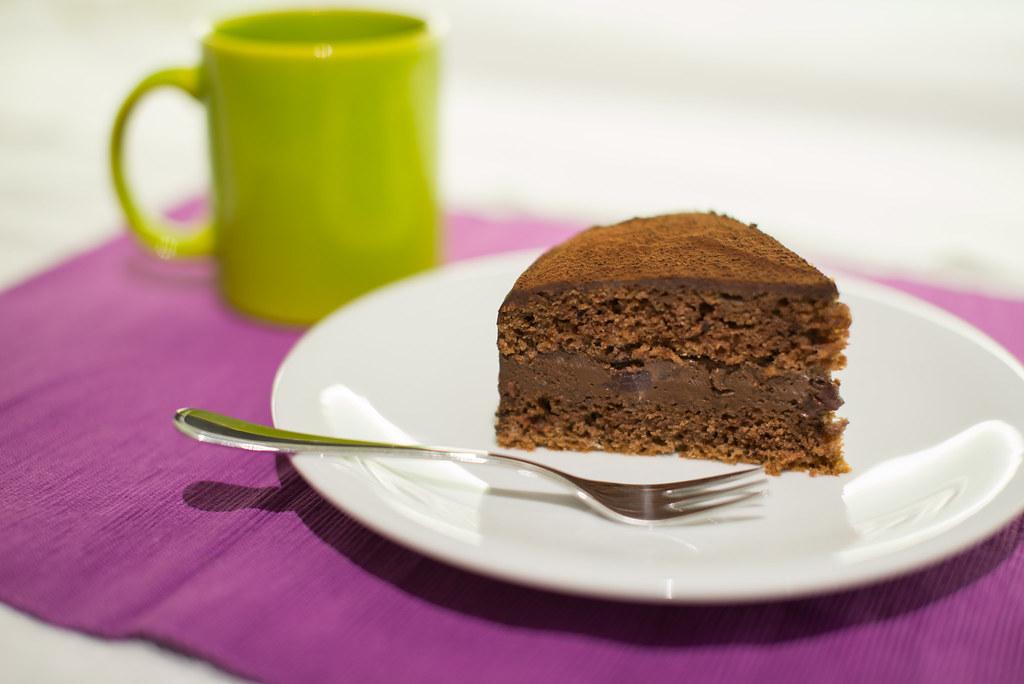vegane schoko kirsch torte nach vielen versuchen die perf flickr. Black Bedroom Furniture Sets. Home Design Ideas