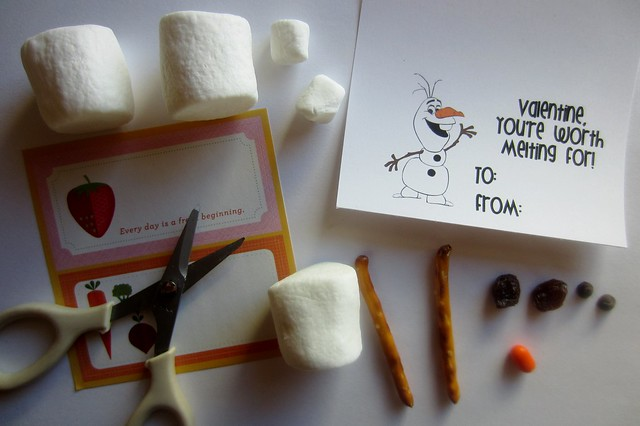 frozen olaf kids' snowman building activity
