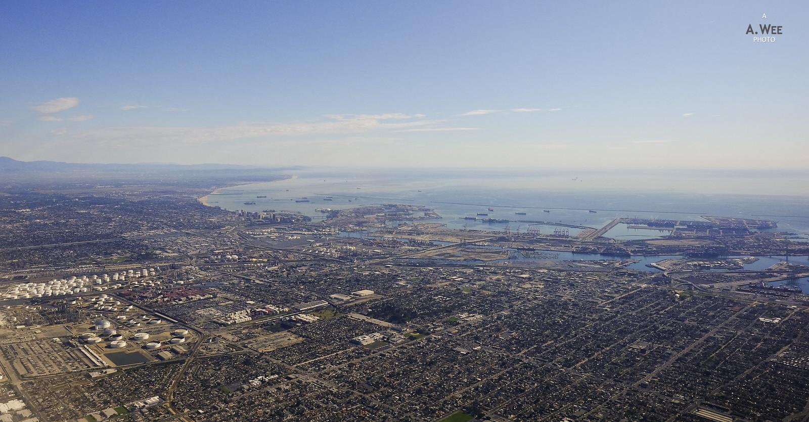 Long Beach Terminal from the air