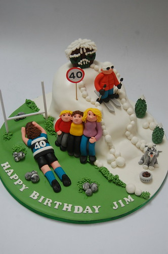 Skiing and Bath Rugby Cake Beautiful Birthday Cakes