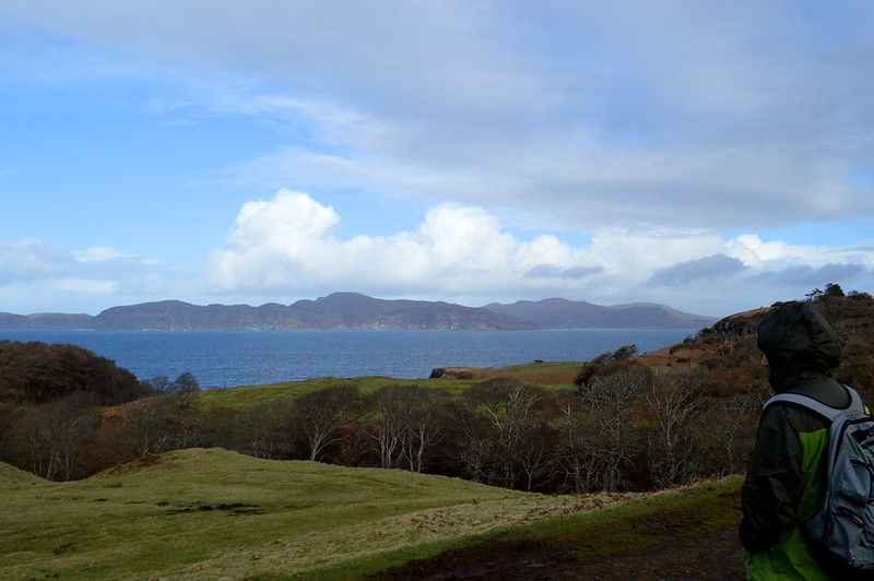 this is a picture of the view of the sea from Glengorm Castle