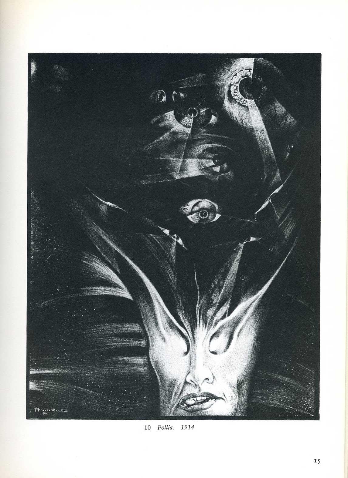 Alberto Martini - Madness, 1914