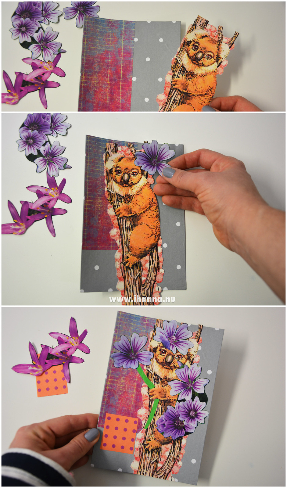 Creating a DIY Happy Collage Postcard with iHanna of the DIY Postcard Swap #diypostcardswap