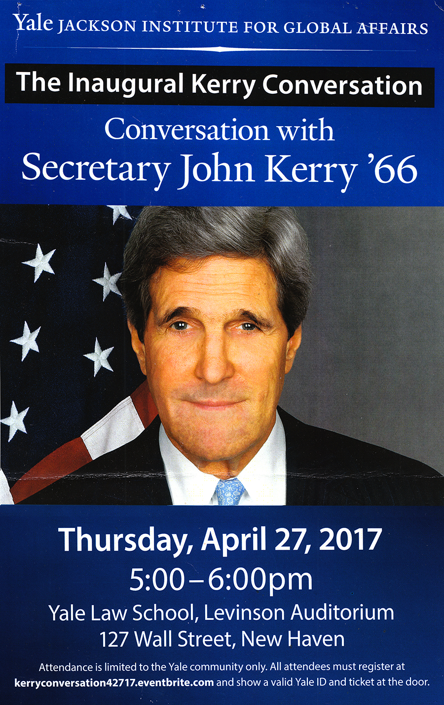 Conversation with Secretary John Kerry--New Haven