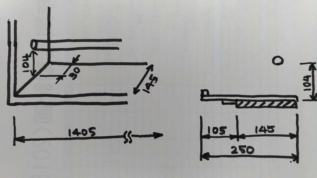 窓枠の寸法図