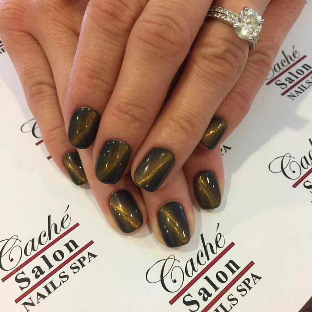 Kristin\'s Cat Eye Nails Design @cachenailspa #cateyenails …   Flickr