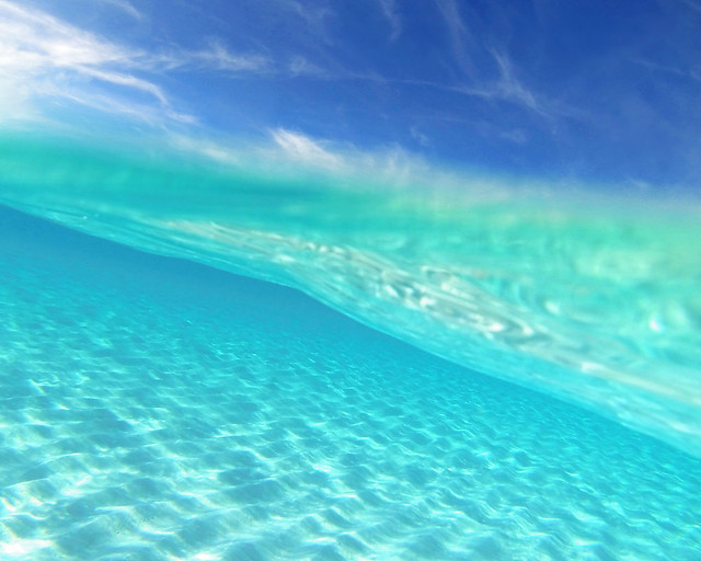 Aguas cristalinas de playa Sirena, en Cuba