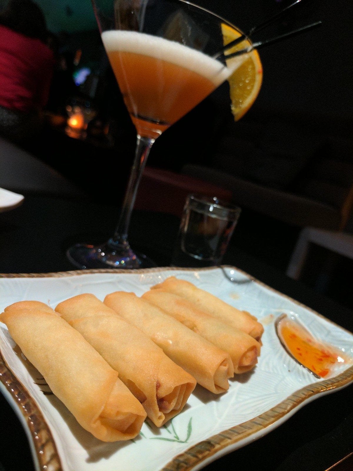 Spring roll bar snacks at Thai Silk