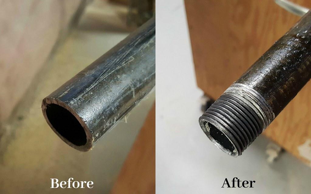 Plumbing Pipe Open Shelving DIY Pipe Threader