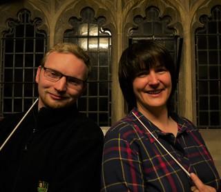 Massed Band Concert Conductors David and Sarah
