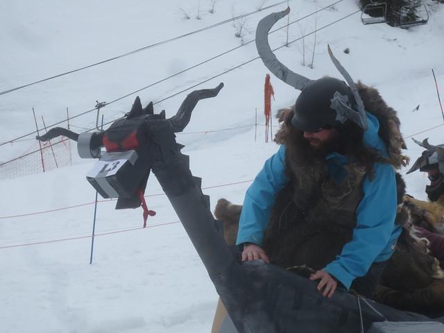 Cardboard sled derby