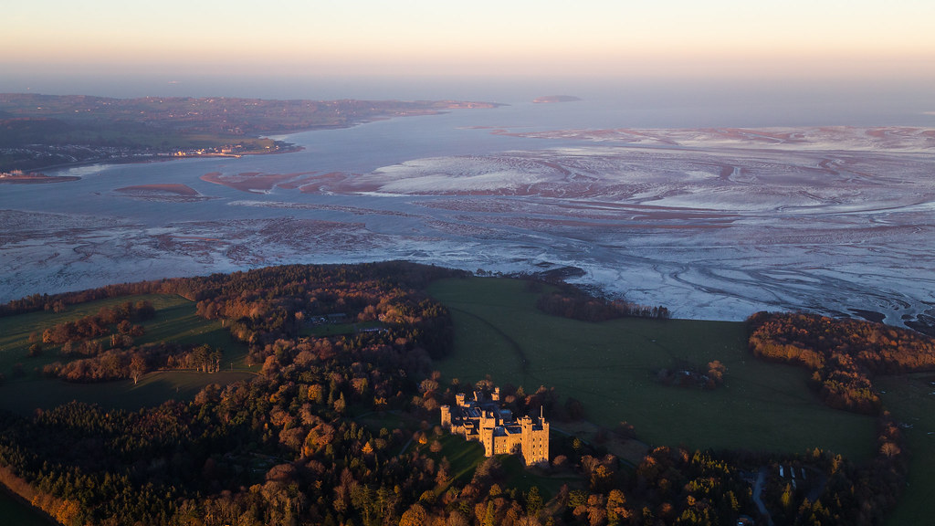 Bird´s eye view - Penrhyn castle, Bangor, Wales, UK