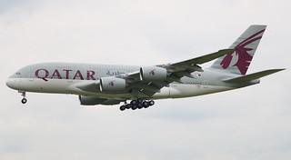 AIRBUS A380-800 QATAR AIRWAYS F-WWAS MSN197 (A7-APH) A L'AEROPORT TOULOUSE-BLAGNAC LE  25 04 17