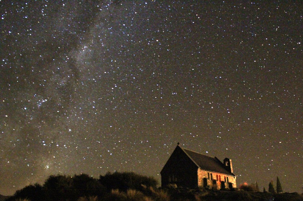 stars  lake tekapo night   church   good 1024 x 682 · jpeg