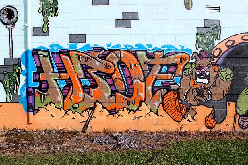 Turtle Mutant graffiti ninja