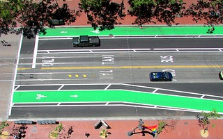 20130621 bike-lanes-market-10th-overhead | by Jym Dyer