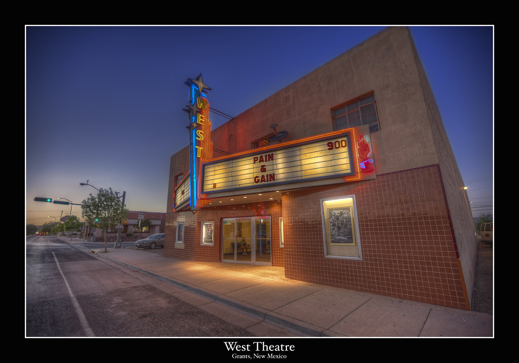 west movie theatre grants new mexico located on route