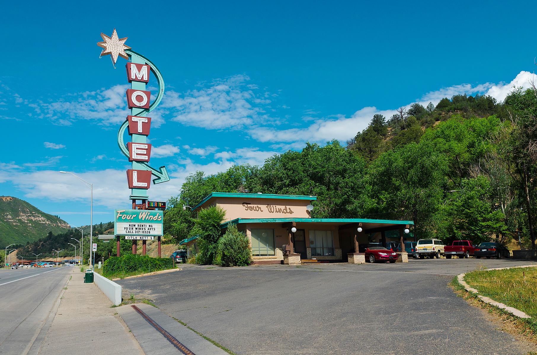 Four Winds Motel - 20797 U.S. 160, Durango, Colorado U.S.A. - July 14, 2013