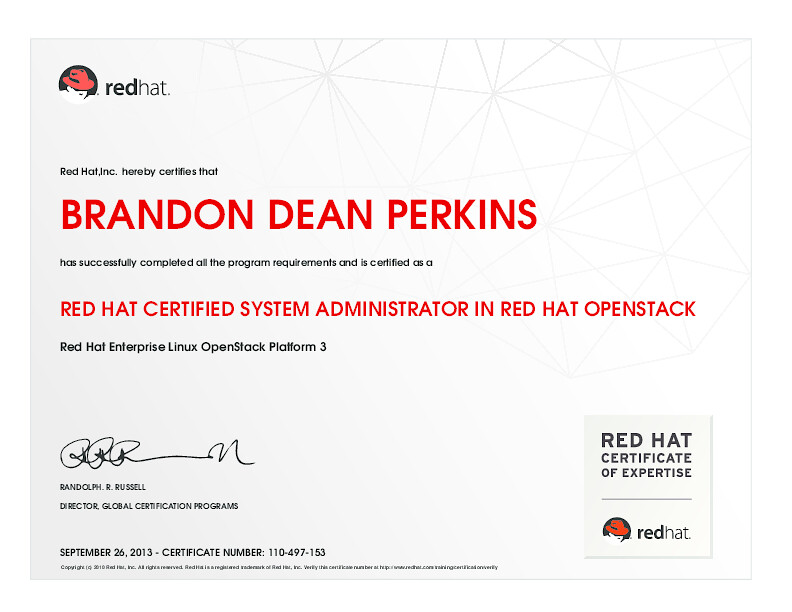 RED HAT CERTIFIED SYSTEM ADMINISTRATOR IN RED HAT OPENSTAC… | Flickr