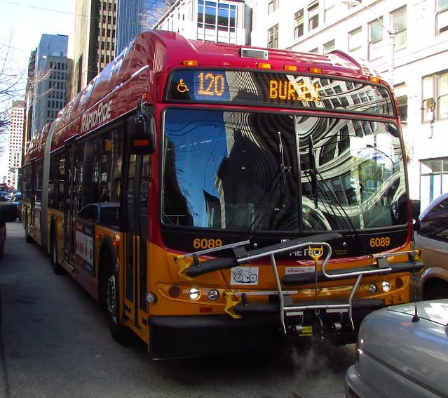 King County Metro RapidRide 2013 New Flyer DE60LFR 6089
