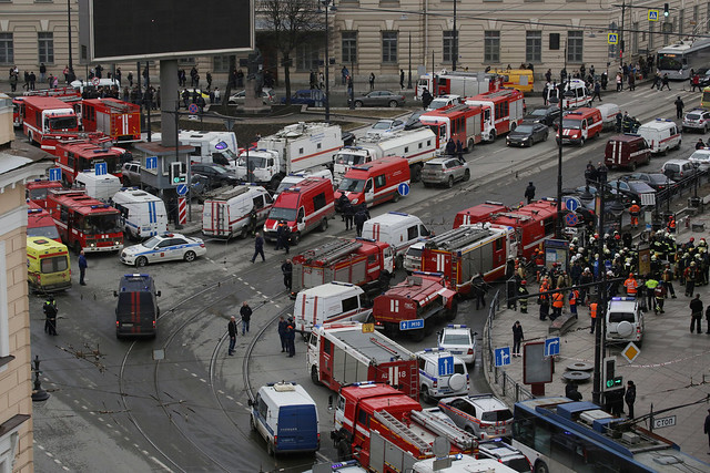 Casualties reported after explosions at St Petersburg metro station
