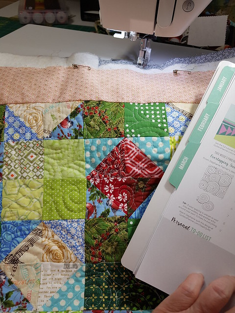 choosing quilting motifs from my Quilter's Planner