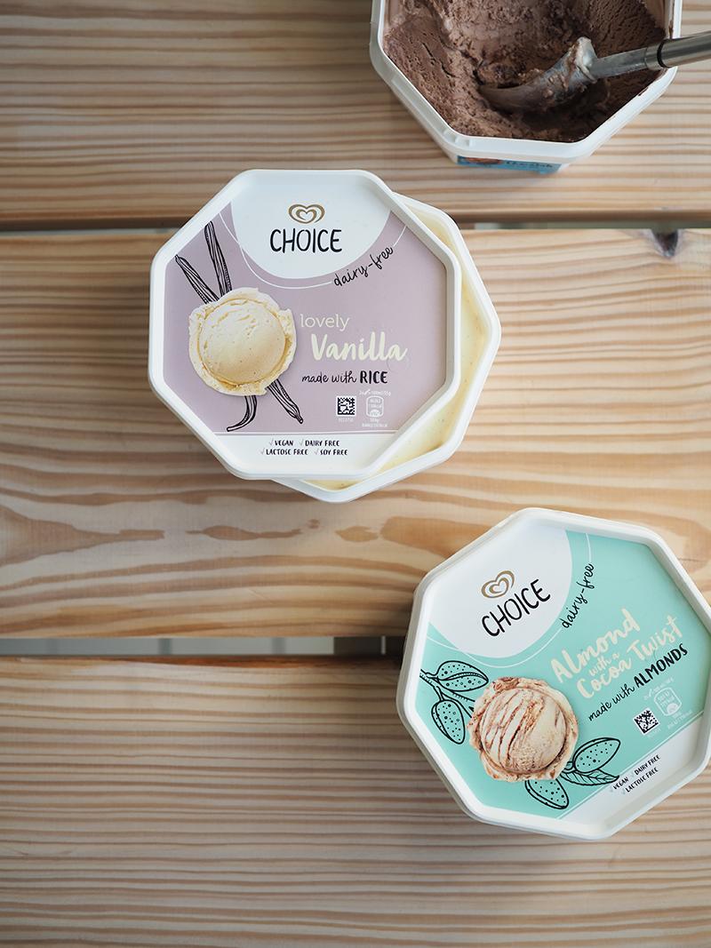 Vegaaniset Choice-jäätelöt