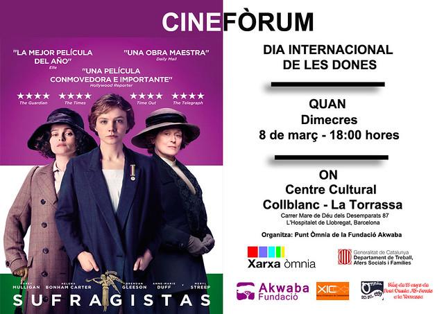 Cinefòrum 8 de març Dia Internacional de la Dona