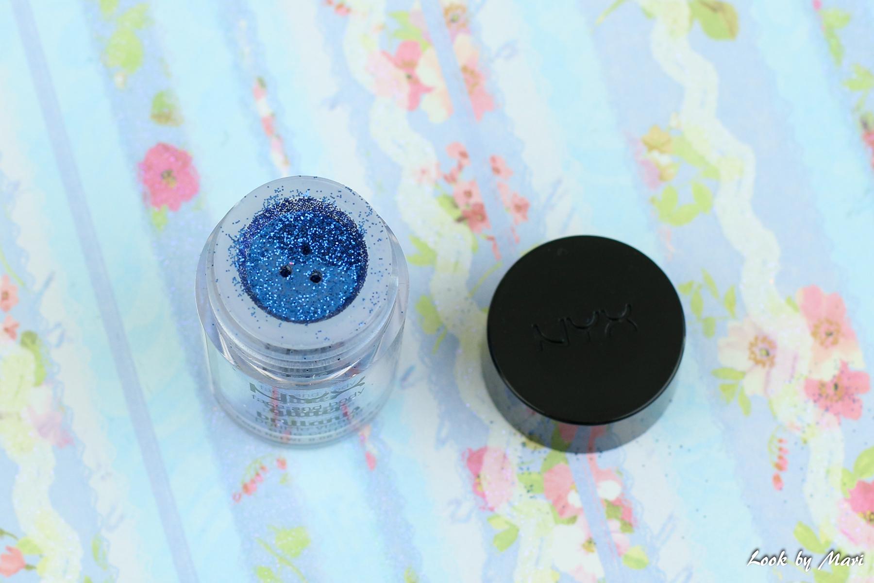 13 Nyx face & body glitter blue kokemuksia sävy väri
