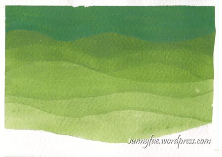 nagative painting hills