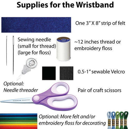 Felt Wristband Supplies
