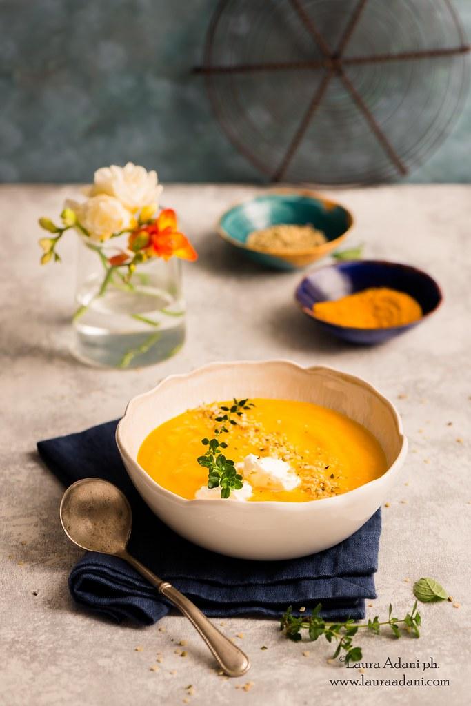 vellutata di carote e topinambur