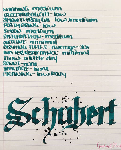 Ink Shot Review Diamine Music Schubert @AppelboomLaren  5