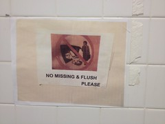No Missing and Please Flush