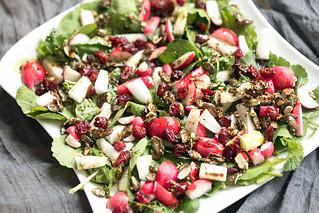 Radieschenblatt-Salat