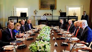 Presidentes Mauricio Macri y Donald Trump en la Casa Blanca